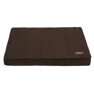 Corduroy Dog Bed Size: Large, Color: Brown