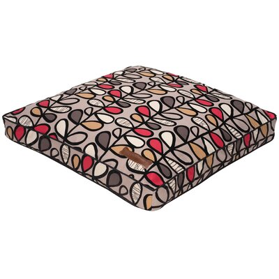 Flocked Dog Pillow Size: Large (36 Lx 36 W)