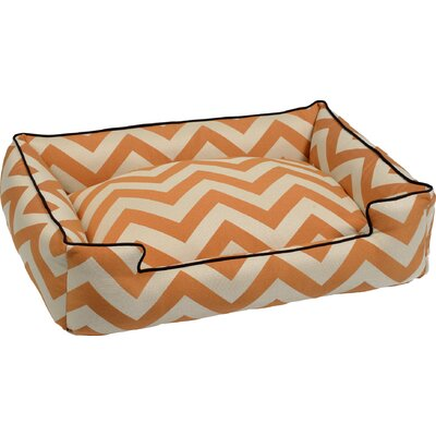 Spellbound Premium Cotton Blend Lounge Bolster Dog Bed Size: Medium - 32 L x 27 W, Color: Orange