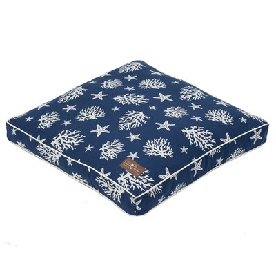 Elsy Cotton Blend Rectangular Pillow Bed Size: 25 L x 25 W, Color: Navy