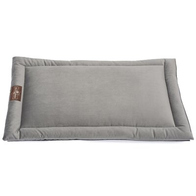 Vintage Standard Plush Velour Cozy Mat Size: Medium (30 L x 19 W), Color: Seal Gray