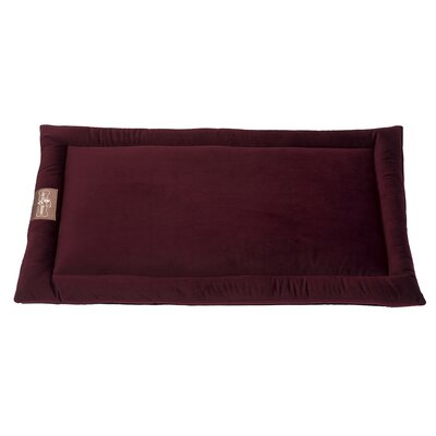 Vintage Standard Plush Velour Cozy Mat Size: Small (24 L x 18 W), Color: Maroon