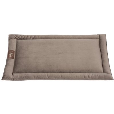 Vintage Standard Plush Velour Cozy Mat Size: Small (24 L x 18 W), Color: Oak