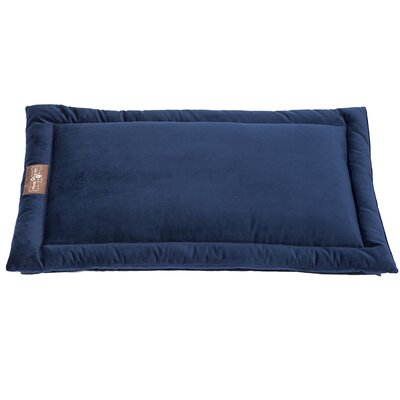 Vintage Standard Plush Velour Cozy Mat Size: Extra Large (42 L x 28 W), Color: Royale