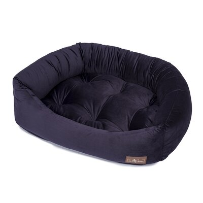 Plush Velour Napper Bed Size: Large (32 L x 40 W), Color: Grape
