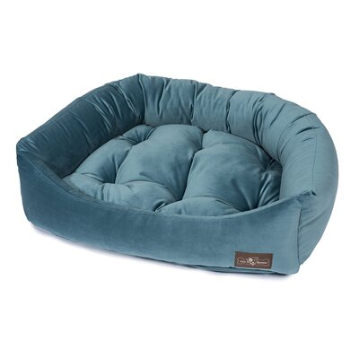 Plush Velour Napper Bed Size: Small (21 L x 24 W), Color: Jewel