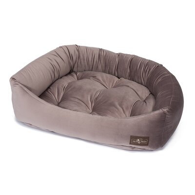 Plush Velour Napper Bed Size: Small (21 L x 24 W), Color: Mauve