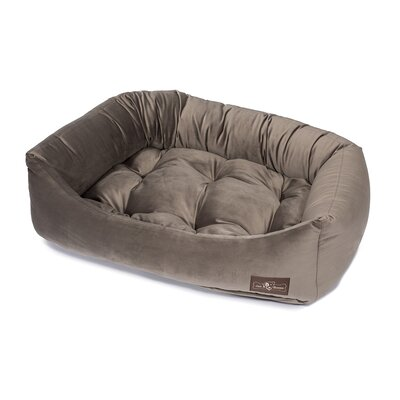 Plush Velour Napper Bed Size: Small (21 L x 24 W), Color: Oak
