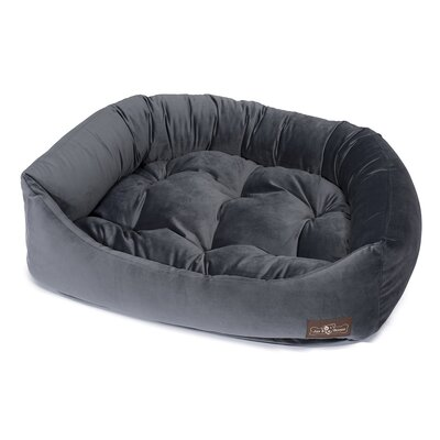 Plush Velour Napper Bed Size: Medium (27 L x 35 W), Color: Titanium