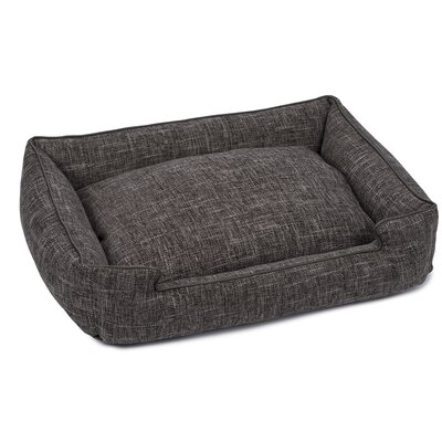 Harper Textured Woven Lounge Dog Bed Size: Small, Color: Black Diamond