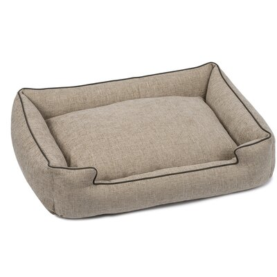 Harper Textured Woven Lounge Dog Bed Size: Medium, Color: Sandstone