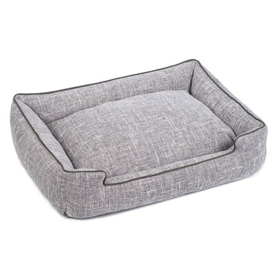 Harper Textured Woven Lounge Dog Bed Size: Small, Color: Gris