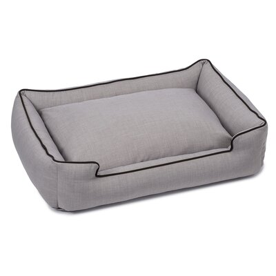 Callen Textured Linen Lounge Dog Bed Size: Small (18 L x 24 W), Color: Earl Gray
