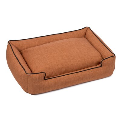 Callen Textured Linen Lounge Dog Bed Size: Medium (27 L x 32 W), Color: Himilayan