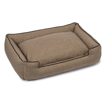Callen Textured Linen Lounge Dog Bed Size: Small (18 L x 24 W), Color: Truffle