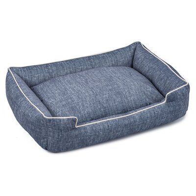 Plush Velour Lounge Dog Bed Size: Small (18 L x 24 W), Color: Stonewash