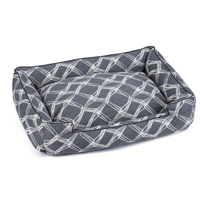 Crosby Premium Cotton Lounge Dog Bed Size: Small (18 L x 24 W), Color: Charcoal