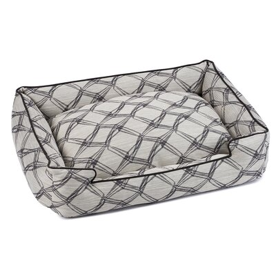 Crosby Premium Cotton Lounge Dog Bed Size: Medium (27 L x 32 W), Color: Latte