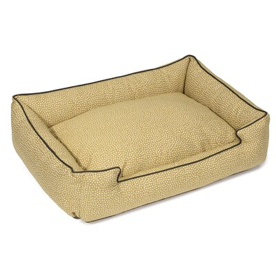Flicker Premium Cotton Lounge Dog Bed Size: Medium (27 L x 32 W), Color: Maize