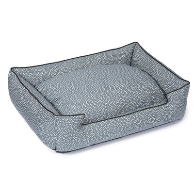 Flicker Premium Cotton Lounge Dog Bed Size: Medium (27 L x 32 W), Color: Cornflower