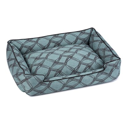 Crosby Premium Cotton Lounge Dog Bed Size: Small (18 L x 24 W), Color: Jade