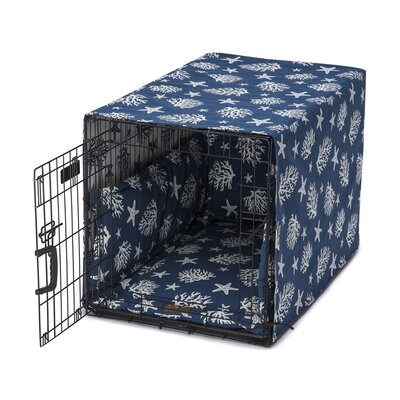 Cove Permium Cotton Crate Cover Size: 48 W x 40 D x 12 H, Color: Navy