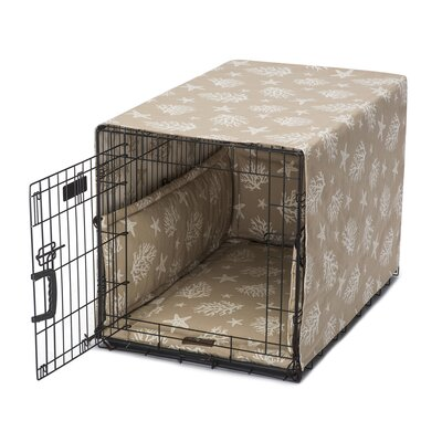 Cove Permium Cotton Crate Cover Size: 39 W x 32 D x 10 H, Color: Sand