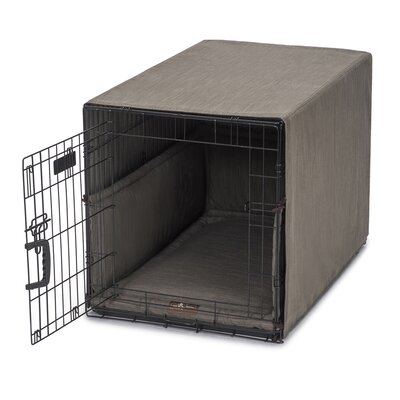 Windsor Permium Cotton Crate Cover Color: Charcoal, Size: 23 H x 25 W x 36 D