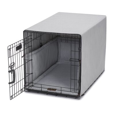Windsor Permium Cotton Crate Cover Color: Dove, Size: 23 H x 25 W x 36 D