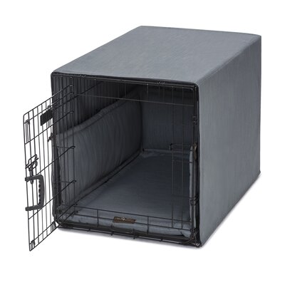 Windsor Permium Cotton Crate Cover Color: Lagoon, Size: 23 H x 25 W x 36 D