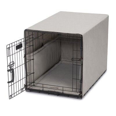 Windsor Permium Cotton Crate Cover Color: Linen, Size: 23 H x 25 W x 36 D