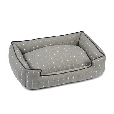 Caspian Premium Cotton Blend Lounge Bolster Bed Size: 32 W x 27 D x 10 H, Color: Stone