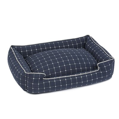 Caspian Premium Cotton Blend Lounge Bolster Bed Size: 39 W x 32 D x 10 H, Color: Navy