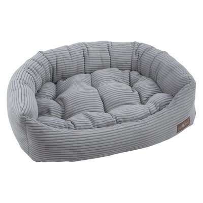 Corduroy Napper Bolster Dog Bed Size: 7