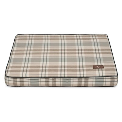 Kensington Fog Premium Cotton Blend Rectangular Memory Foam Pillow/Classic Dog Bed Size: 3.5 H x 36 W x 28 D, Color: Gray