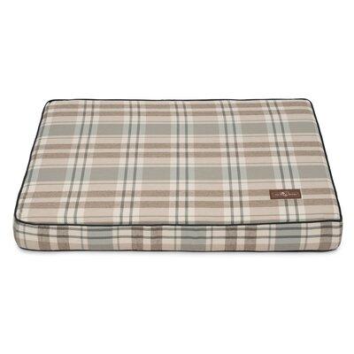 Kensington Fog Premium Cotton Blend Rectangular Memory Foam Pillow/Classic Dog Bed Size: 3.5