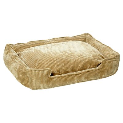 Corduroy Lounge Bolster Dog Bed Size: Medium (32 L x 27 W), Color: Honey