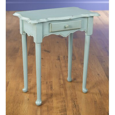 1 Drawer End Table Color: Antique Blue
