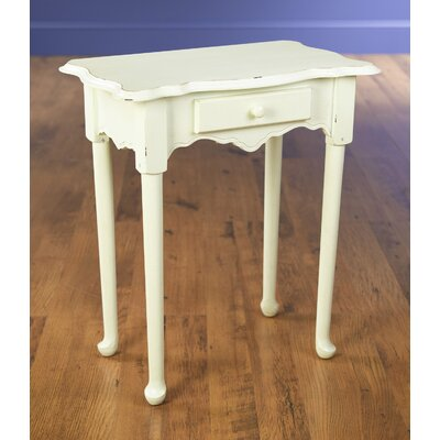 1 Drawer End Table Color: Antique White