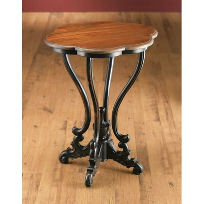 Serpentine End Table Color: Black