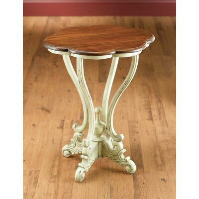 Serpentine End Table Color: Parchment