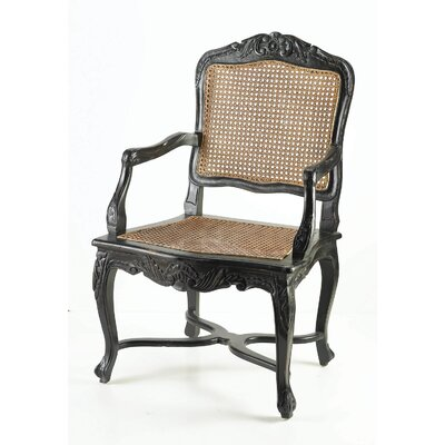 Cane Armchair Finish: Black