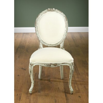 Upholstered Dining Chair Frame Color: Distressed White