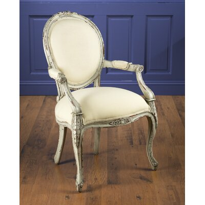 Arm Chair Finish: Distressed White