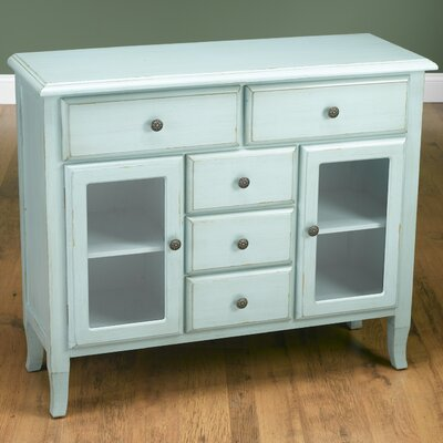 2 Glass Door Server Finish: Light Blue