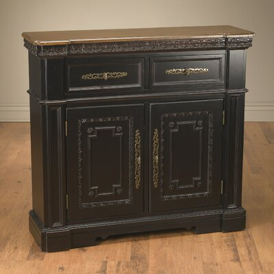 2 Drawer and 2 Door Cabinet Finish: Black