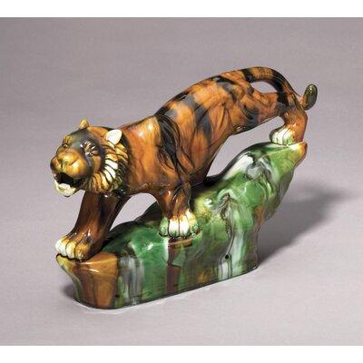 Majolica Style Tiger Figurine