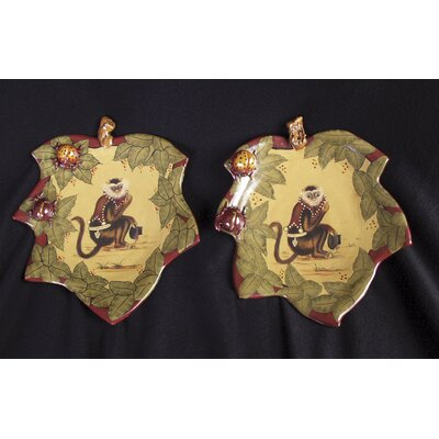 2 Piece Monkey Plate Set