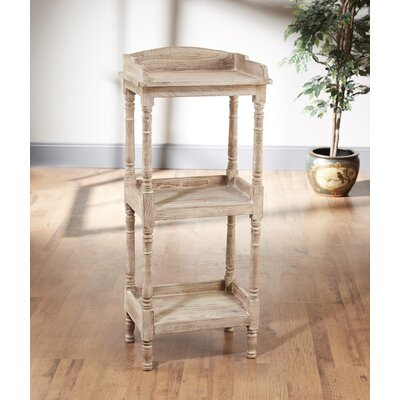 3 Tier Narrow 47 Etagere Bookcase Finish: Weathered Sand