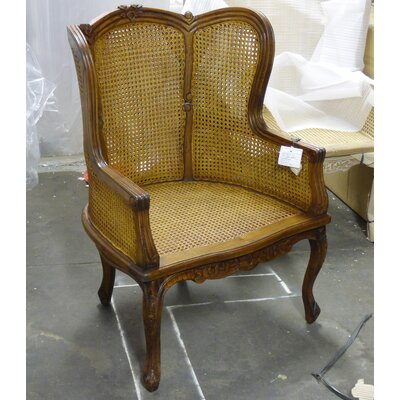Double Caned Armchair Finish: Walnut